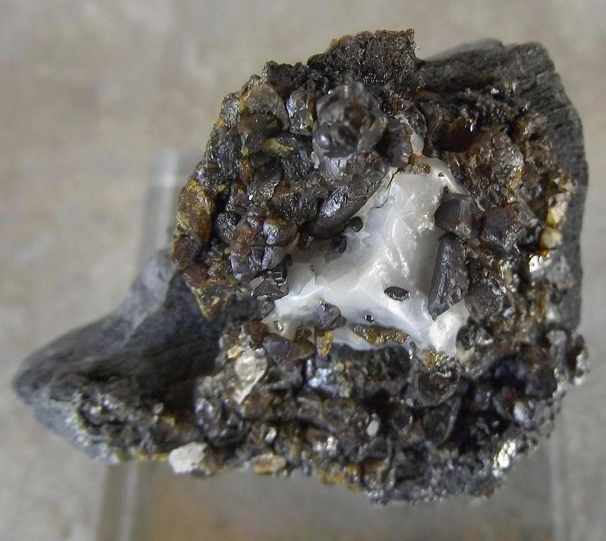 Sphalerite et Calcite