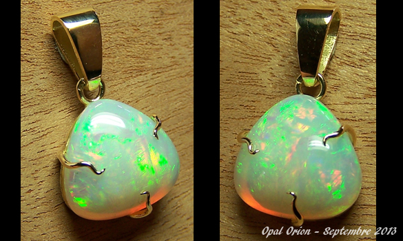 AAB34kes2 Bijoux et Opales  Pendentif en or et opale Welo Ethiopie