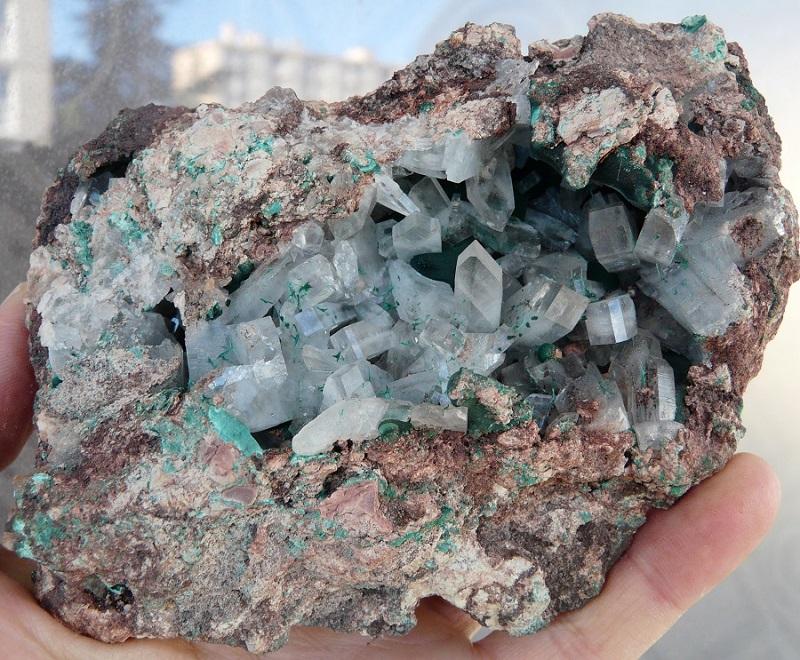 Barytine et  Malachite, mine Shangulowé, Kambove, Katanga, RDC