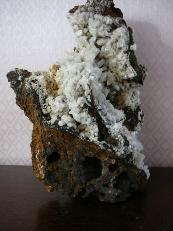 Baryte blanche en sifflet St. Laurent le minier Gard  France (1a) .JPG