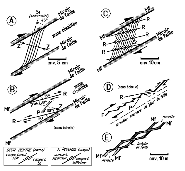 fractures de riedel - tectonique et s u00e9ismes