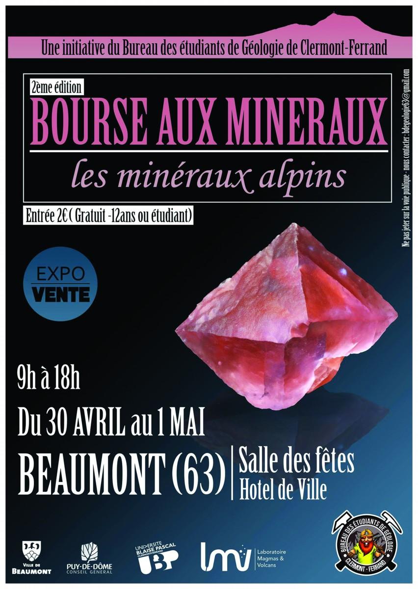 Bourse aux minéraux de Beaumont 2016