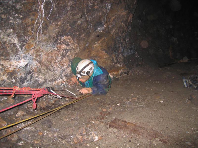 Accès aux zones de dépilage ; mine d'Alzen-Lina (Ariège) ; Photo F. Bec.jpg
