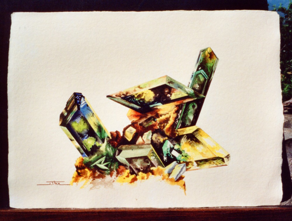 VIVIANITE - Aquarelle - Papier chiffon fait main.jpg