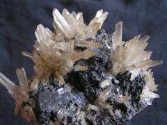Quartz sur Marmatite Pérou.JPG