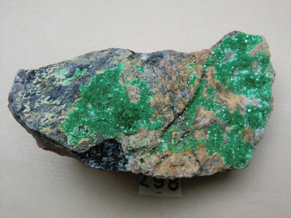 298 - torbernite , Zaire , radioactivité forte.JPG