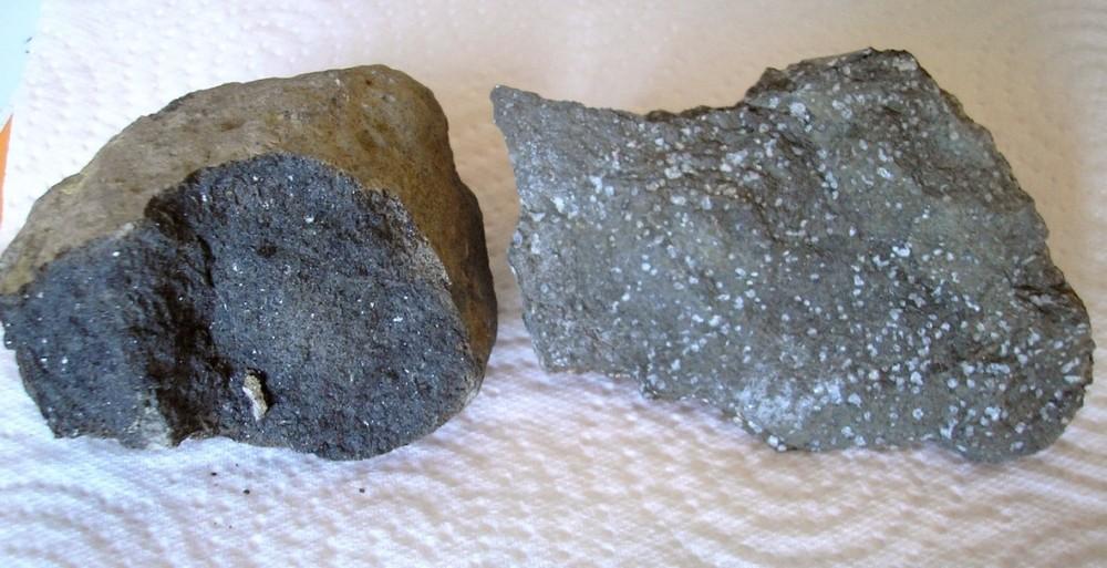 monchiquite Roquefort  et roche éruptive Vingrau 16 cm.jpg