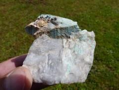 Turquoise / Quartz / Cassitérite - Montebras - Creuse (23)