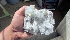Fluorine sur quartz, Hunan, Chine.