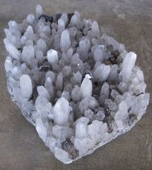 Quartz, Sphalérite et Chalcopyrite