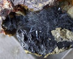 Dadsonite, Zinkénite, Chalcostilbite et Sidérite