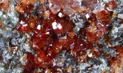 Grenat Hessonite et Clinochlore