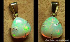 AAB34kes2 Bijoux et Opales : Pendentif en or et opale Welo Ethiopie